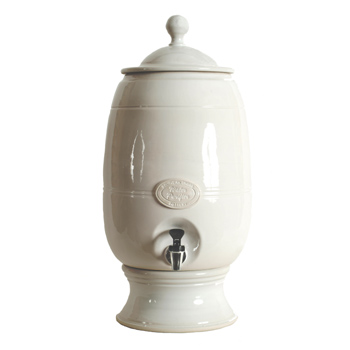 Large Pearl White Ceramic Water Filter